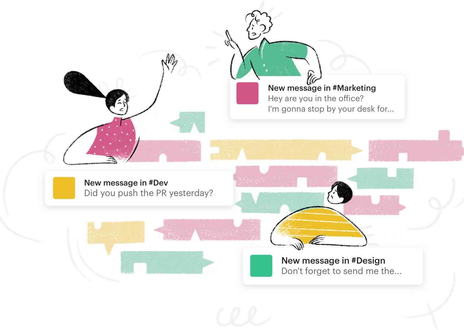 slack messages making communication confusing