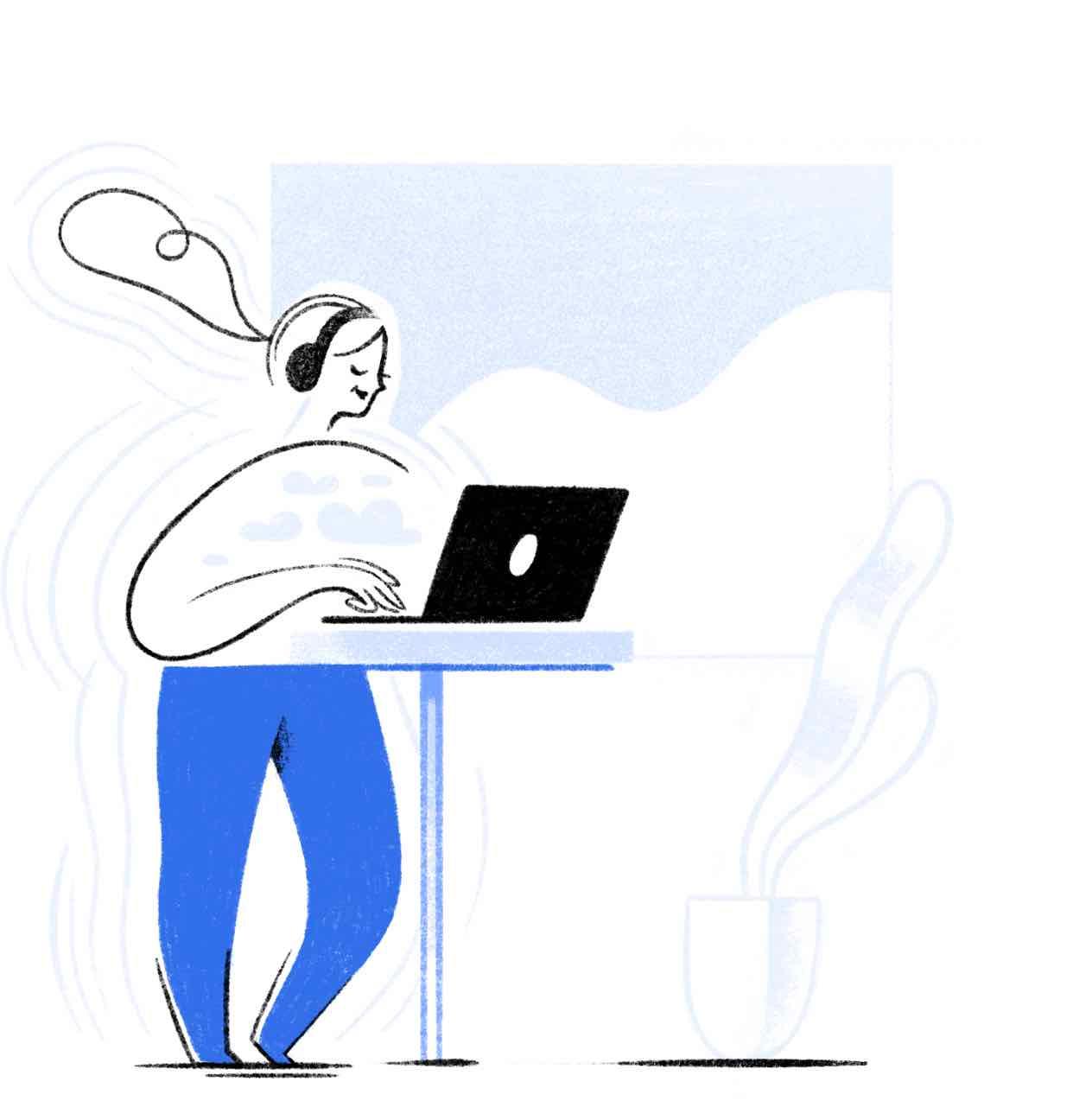 usuário do twist trabalhando tranquilamente e em silêncio